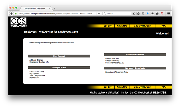 WebAdvisor Portal