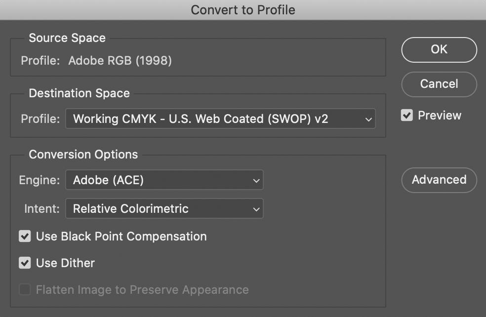 Converting A Color Profile