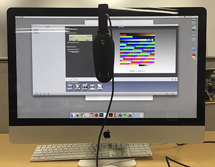 An example of calibrating a monitor