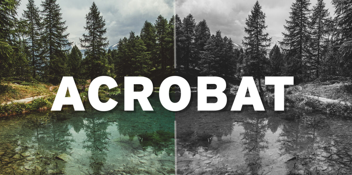 Convert Color to Grayscale in Adobe Acrobat
