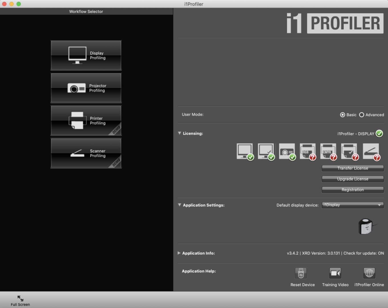 i1profiler - main page